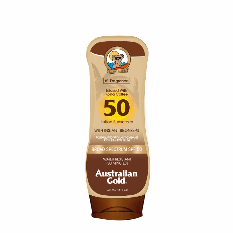 SUNSCREEN LOTION WITH BRONZERS