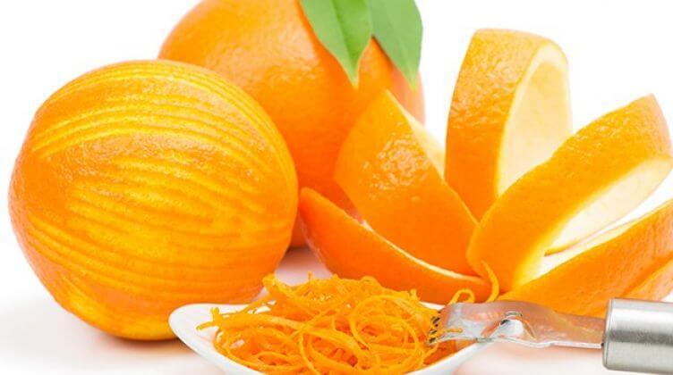 قشور برتقال طازجة
