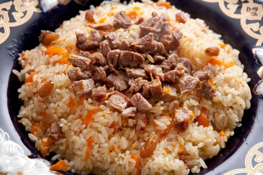 أرز البيلاف باللحم