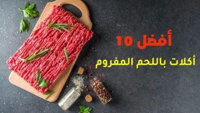 أفضل 10 أكلات باللحم المفروم