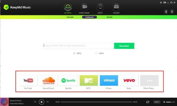 KeepVid Music برنامج