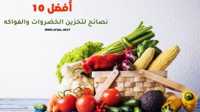 أفضل 10 نصائح لتخزين الخضروات والفواكه