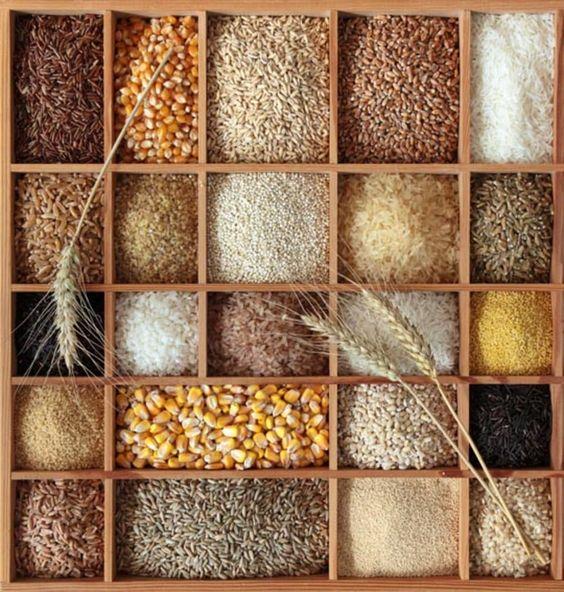 الخبز و الحبوب الكاملة